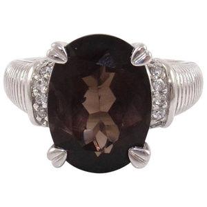 Judith Ripka 925 Sterling Silver Ring Size 7
